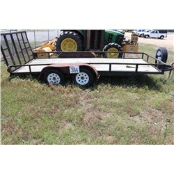"""UTILITY TRAILER, VIN/SN:LW6734 - T/A, 6' 8"""" WIDE, 15' 8"""" LENGTH, TAILGATE"""