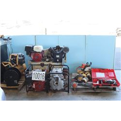 HYDRAULIC LIFTS, TOOL BOXES, AIR COMPRESSORS, CHAIN SAW, HAMMER DRILL , TRASH PUMPS, LIGHT BAR, MESS