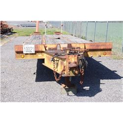 FLATBED TRAILER 8' X 25'W/ 5' DOVE AND (2) 12TON AXLES