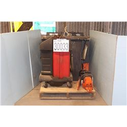 TRANSMISSION FLUSHER, PARTS WASHER, CHAIN SAWS