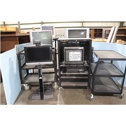 UTILITY CARTS, TELEVISIONS, MONITORS, VIDEO CONFERENCE CODEC, DVD PLAYER