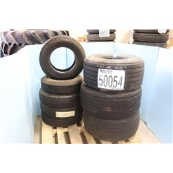 TIRES - (3) 31-13.50-15 NHD, (5) 8.00-14.5 F BLTL TRACTION HI-MILER REG TRD