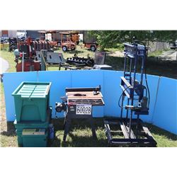 TABLE SAW, PARTS WASHER, HYDRAULIC PRESS