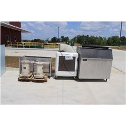 KEROSENE HEATER, EVAPORATIVE COOLER, ICE MACHINE