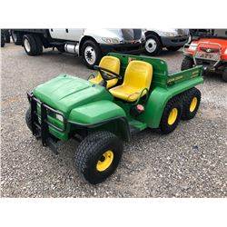 2002 JOHN DEERE GATOR VIN/SN:032262 - 4X6, DIESEL ENGINE, DUMP BED, METER READING 946 HOURS