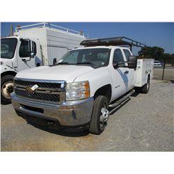 2011 GMC 3500 SERVICE TRUCK, VIN/SN:1GB4CZCL8BF160019 - CREW CAB, DIESEL ENGINE, A/T, OMAHA SERVICE