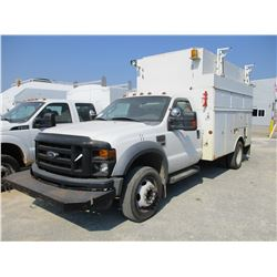 2009 FORD F550 SERVICE TRUCK, VIN/SN:1FDAF56R29EB04698 - S/A, FORD DIESEL ENGINE, A/T, ALTEC COVERED