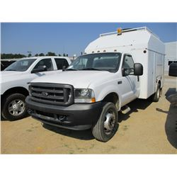 2003 FORD F550 SERVICE TRUCK, VIN/SN:1FDAD56P13ED73295 - COVERED, S/A, POWER STROKE DIESEL ENGINE, A