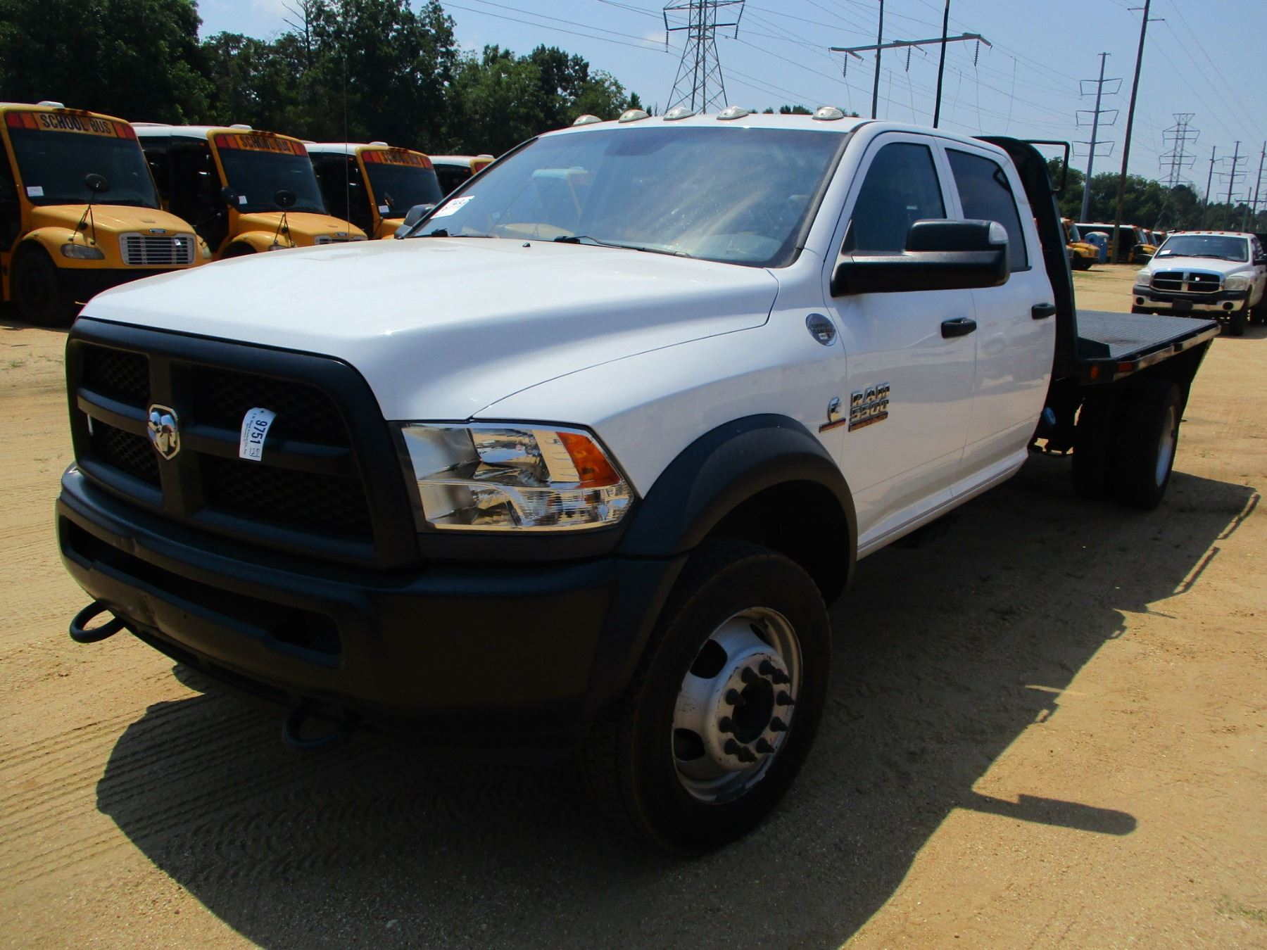 2015 Dodge Ram 5500 Flatbed Truck Vin Sn 3c7wrnfl3fg588904 4x4 Crew Cab Cummins Turbo Diesel En