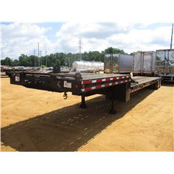 """LOWBOY TRAILER, - T/A, 53' LENGTH, 102"""" WIDTH, HYD DOVE TAIL, DECK RAMPS, WINCH, AIR RIDE SUSPENSION"""