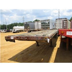 """TRANSCRAFT FLATBED TRAILER, - T/A, 40' LENGTH, 96"""" WIDTH, 11R24.5 TIRES"""