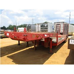 """LOWBOY TRAILER, - T/A, 35' LENGTH, 96"""" WIDTH, DOVETAIL, HYD RAMPS, 10.00-20 TIRES (BILL OF SALE ONLY"""