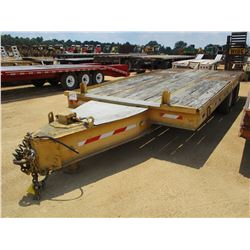 """TAG TRAILER, - T/A, 23' LENGTH, 96"""" WIDTH, DOVETAIL, RAMPS, AIR BRAKES, PINTLE HITCH, 10R17.5 DUAL T"""