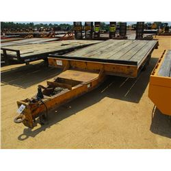 """TAG TRAILER, - T/A, 20' LENGTH, 96"""" WIDTH, DOVETAIL, RAMPS, PINTLE HITCH, 7.50-16 DUAL TIRES"""