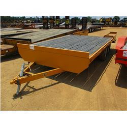 TRAILER WORLD UTILITY TRAILER, - T/A, 16' LENGTH DOVETAIL, RAMPS