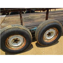 TAG TRAILER, - 6'X 16',T/A, FOLD DOWN RAMP, S7225/75D15 TIRES (COUNTY OWNED)