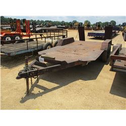 """STEEL BED UTILITY TRAILER, -72""""X12' 9"""" DECK, DOVE TAIL, RAMPS"""