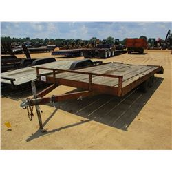 """UTILITY TRAILER, - T/A, 7'-6"""" WIDTH, 14' LENGTH, DOVETAIL RAMPS"""