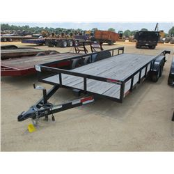 2017 CALIBER UTILITY TRAILER, VIN/SN:57BWR7203H1031042 - 7' X 20' LENGTH, SIDE STOW RAMPS