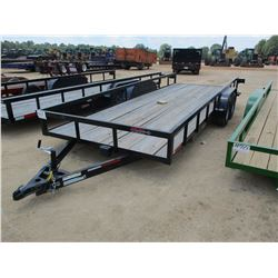 2017 CALIBER UTILITY TRAILER, VIN/SN:57BWR7203H1031381 - 7' X 20' LENGTH, SIDE STOW RAMPS