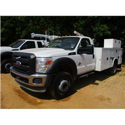 2011 FORD F550 SERVICE TRUCK, VIN/SN:1FDUF5GT6BEB86125 - S/A, POWER STROKE DIESEL ENGINE, A/T, KNAPH