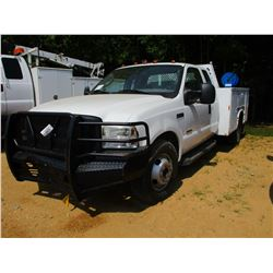 2006 FORD F350 SERVICE TRUCK, VIN/SN:1FDWX36P76EB81813 - EXTENDED CAB, POWER STROKE DIESEL ENGINE, A