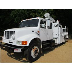 1995 INTERNATIONAL 4700 SERVICE TRUCK, VIN/SN:1HTSCAAN1SH633775 - S/A, CREW CAB, IHS, 10 SPEED TRANS