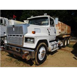 1995 FORD LTL 9000 WATER TRUCK, VIN/SN:1FTYA90X0SVA17615 - T/A, 3406 CAT DIESEL ENGINE, 8LL TRANS, 1