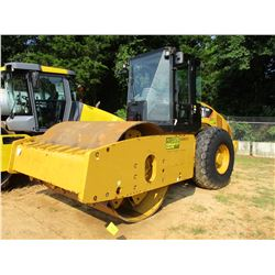 "2012 CAT CS64 ROLLER, VIN/SN:C6S00175 - VIBRATORY, 84"" SMOOTH DRUM, ECAB W/AC, METER READING 1,943 H"