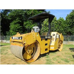 "2005 CAT CB534D ROLLER, VIN/SN:FGH00356 - TANDEM, VIBRATORY, 66"" SMOOTH DRUM, CANOPY"