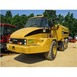 2005 CAT 725 WATER TRUCK, VIN/SN:BIL00118 - 2017 G6000 WATER TANK W/REAR & INTERMEDIATE DISCHARGE, 2