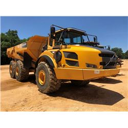 2013 VOLVO A40F ARTICULATED DUMP, VIN/SN:102075 - TAILGATE, REAR CAMERA, ECAB W/AC, 29.5R25 TIRES, M