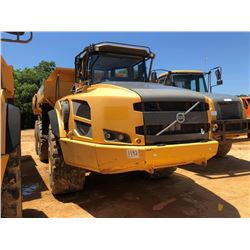 2012 VOLVO A40F ARTICULATED DUMP, VIN/SN:11595 - TAILGATE, REAR CAMERA, ECAB W/AC, 29.5R25 TIRES, ME