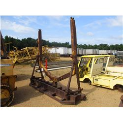 C FRAME WITH 11' ROOT RAKE, FITS CRAWLER TRACTOR