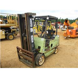 CLARK GCK25 FORKLIFT, VIN/SN:GX23000499085KF - 3500# CAP, 3 STAGE (DOES NOT RUN)