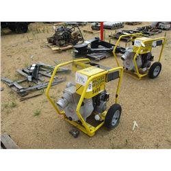 "WACKER NEUSON PTS 4"" WATER PUMP, - VANGUARD 16 HP GAS ENGINE, ELECT START"