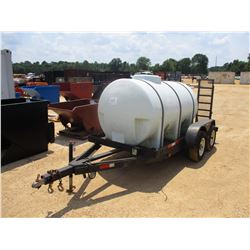 WATER TANK, - 700 GALLON, GAS PUMP, MTD ON T/A TAG TRAILER, FOLD UP RAMPS, ST205/75R14 TIRES