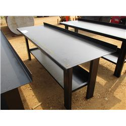 "29"" X 90"" METAL WORK TABLE W/SHELF"