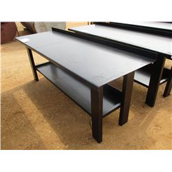 "METAL WORK TABLE, - W/SHELF, 29"" X 90"""