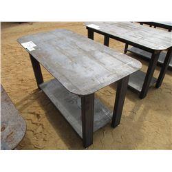 HEAVY DUTY 30X57 WELDING SHOP TABLE W/SHELF