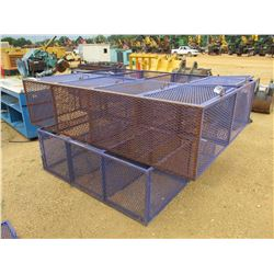 (2) EXPANDED METAL STORAGE CAGE