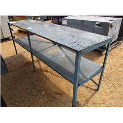 METAL/WOOD TABLE-2' X 8'
