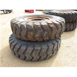 (2) 14.00-24 TIRES AND RIMS