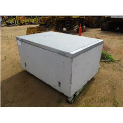 "CONCRETE BOX W/GALVANIZED LID 54"" X 78"" X 36"""