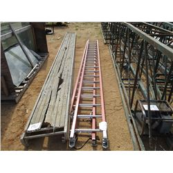 FIBERGLASS EXTENSION LADDER, - 38'