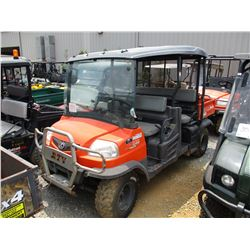 2012 KUBOTA 1140CPX SIDE BY SIDE, VIN/SN:A5KD1HDACCG020792 - 4X4, DIESEL ENGINE, WINDSHIELD, CANOPY,