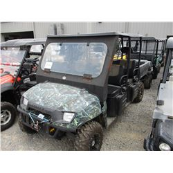 2009 POLARIS RANGER 700 VIN/SN:4XAWH68A892718228 - CREW CAB, GAS ENGINE, DUMP BED, WINDSHIELD, CANOP