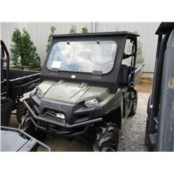 POLARIS 800 RANGER VIN/SN:4XATB76A0CE636785 - 4X4, GAS ENGINE, CANOPY, WINDHSIELD, DUMP BED, WINCH,