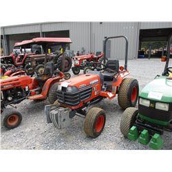 KUBOTA B2410 FARM TRACTOR, VIN/SN:10083 - 3 PTH, PTO, 38X12-50 TIRES, METER READING 1,643 HOURS