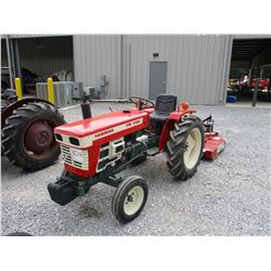YANMAR YM 1700 FARM TRACTOR, VIN/SN:25023 - 3 PTH, PTO, 9.5-24 TIRES, METER READING 973